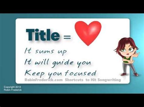how to write a song title in a paper how to write a song tip 1 start with a title