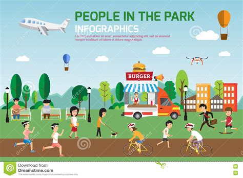 spend your time relaxing and playing design home the 1 rest in the park infographic elements flat vector design