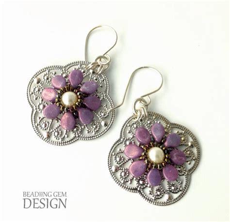 how to make metal st jewelry purple pip bead earrings allfreejewelrymaking