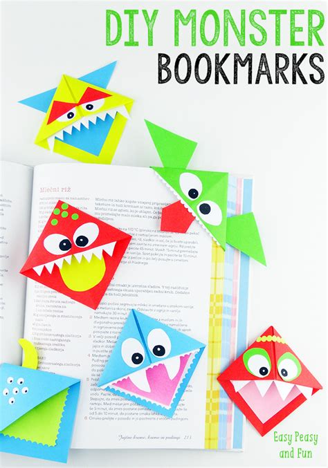 printable monster bookmarks halloween monster crafts and treats corner bookmarks
