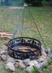 Indoor Gas Fire Pits - using a campfire tripod
