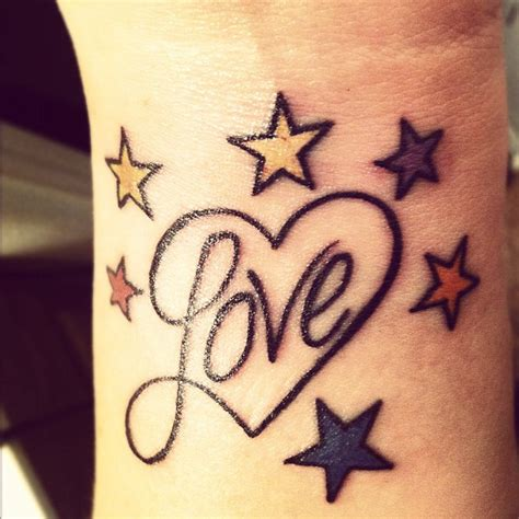love heart tattoos on wrist on finger