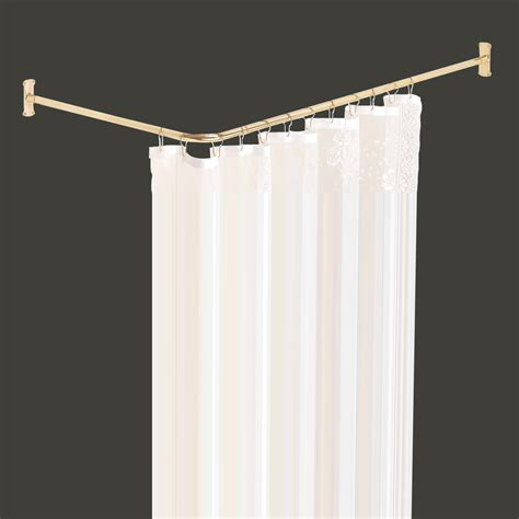 solid curtain rods shower curtain rod bright solid brass 2 sided