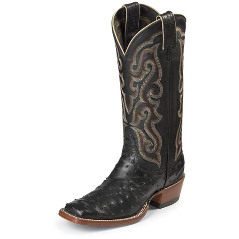 ostrich boots s nocona 174 13 quot quill ostrich boot boots 578418