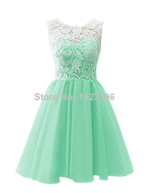 2015 new mint green lace chiffon prom dress zipper