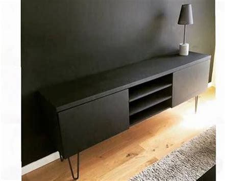 Meuble Tv Sans Pied by Customiser Un Meuble Tv Ikea Avec Pieds Scandinaves En