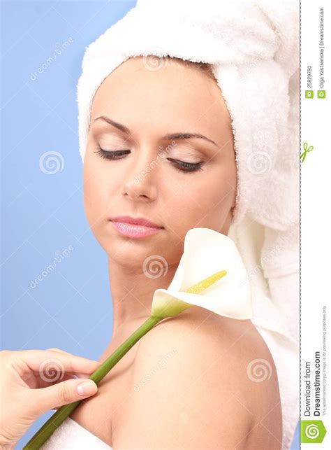 After Shower by After Shower With A Towel Stock Photo Image 25829780
