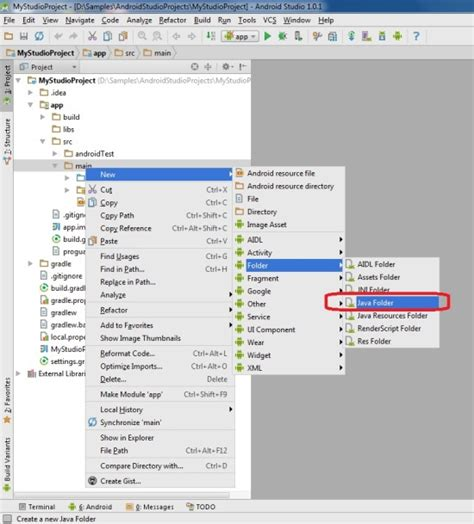 android create folder why android studio doesn t allow me to create java classes stack overflow