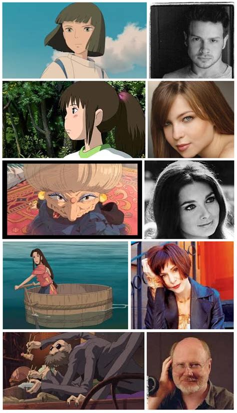 B Anime Voice Actors by Spirited Away Characters American Voice Actors