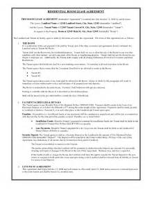 perfect residential room lease agreement template with