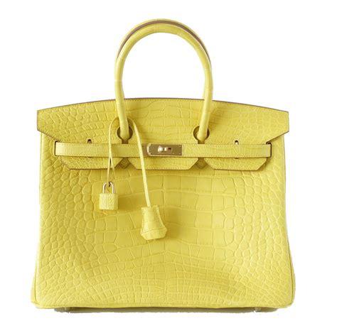 Hermes Bag Kayu Yellow hermes birkin bag 35cm matte yellow mimosa alligator gold hardware world s best