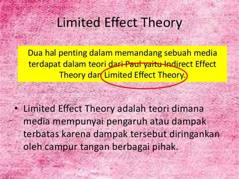 Info Penting Wahana Limited limited effect theory