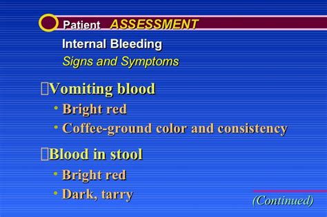 Blood In Stool One Time Only by Bleeding And Shock