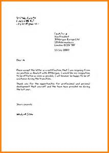 How To Type Resignation Letter by 8 How To Write Resign Letter Ledger Paper