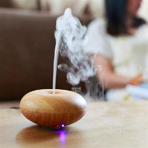 Aroma Therapy Air Humidifier Wood Flower 2015 wood grain aromatherapy diffuser air humidifier led light ultrasonic humidifier