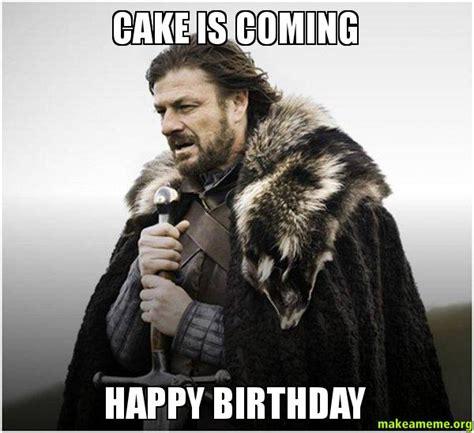 cake  coming happy birthday mako birthday   meme