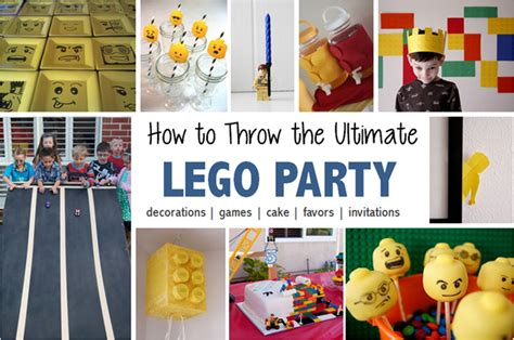 Bday Party Decorations At Home How To Throw A Lego Birthday Party South Shore Mamas