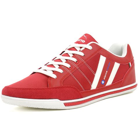 alpineswiss stefan mens retro fashion sneakers tennis