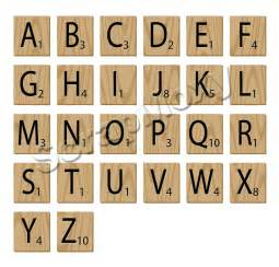 scrabble alphabet letters for scrapbooking in photoshop digital file