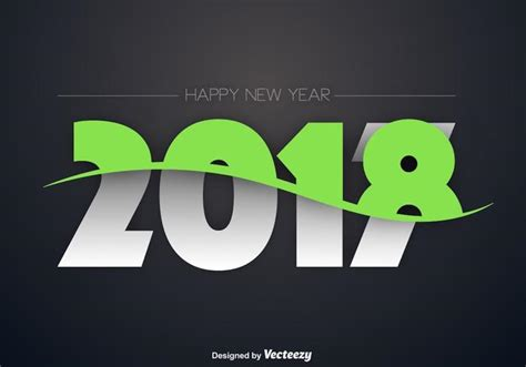 new year illustration 2018 happy new year illustration free vector