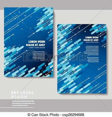 Vector of high tech brochure template design with blue