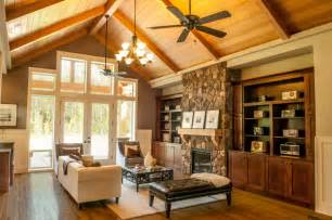 House Plans With Vaulted Ceilings The Ashby Traditional Family Room Vancouver By