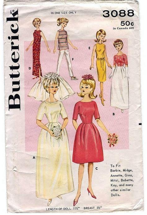 sewing pattern pdf vintage pdf pattern vintage barbie sewing pattern butterick 3088