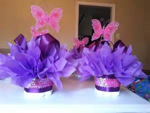 butterfly centerpieces butterfly mini cakes customize your table centerpiece for baby