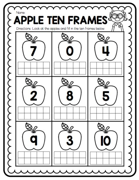 Ten Frame Worksheet by Ship Shape Grade Teaching With Ten Frames