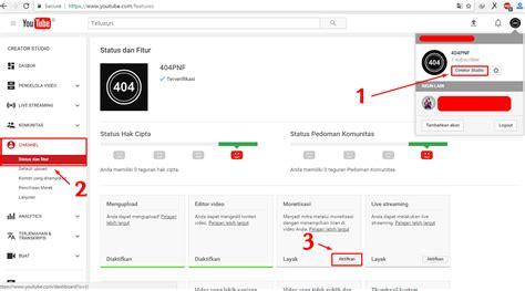 adsense untuk youtube cara super mudah daftar google adsense melalui youtube