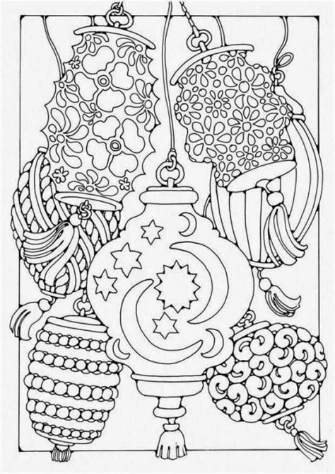chinese garden coloring pages abstract lanterns coloring coloring pages adult