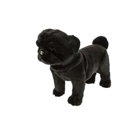 black pug soft black pug standing soft plush 16 quot 40cm midnight by bocchetta new