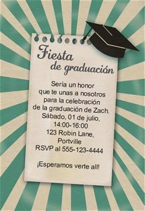 invitacion de graduacion en espanol quot 218 nete a la fiesta de graduaci 243 n quot printable invitation