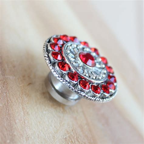 red crystal drawer pulls red crystal drawer knobs crystal knobs in silver mk113s 06