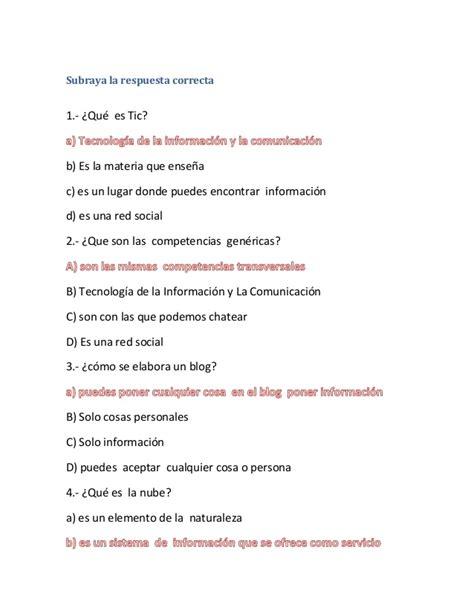 preguntas interesantes con respuesta preguntas para examen de tic