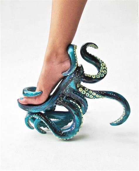 personalized high heels custom made octopus high heels