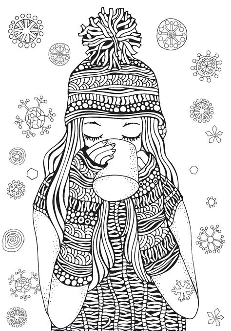 winter coloring winter puzzle coloring pages printable winter themed