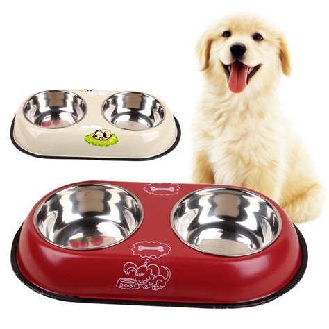 Vacation Pet Pet Pet Product by 2 In 1 Pet Food Bowl Puppy Travel Feeder Water Dish