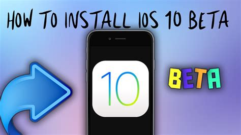 how to install ios 10 public beta on your iphone or ipad how to install ios 10 3 beta 6 for free without computer
