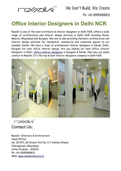 interior designers in delhi ppt best office interior designers in delhi ncr