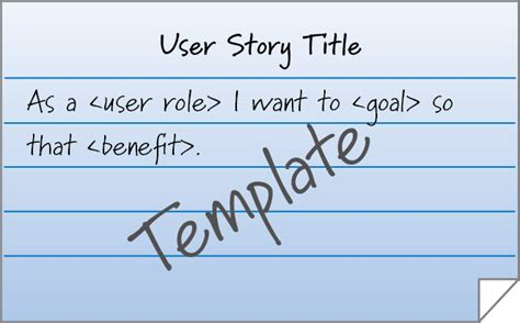 user story card template user stories match the goal to the innolution