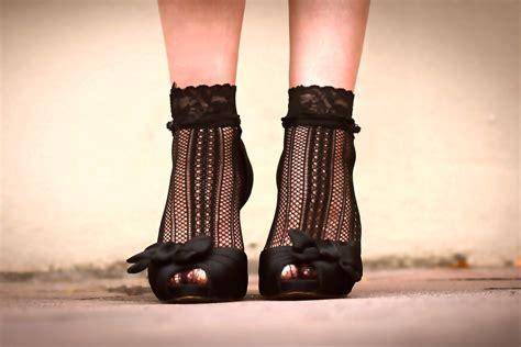 high heels socks black color lace socks for heels 2014 adworks pk