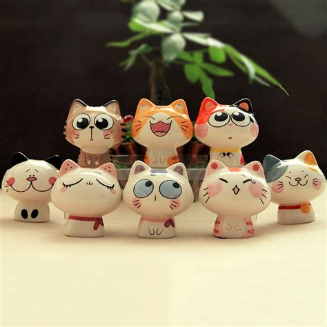 cat decor for the home jingdezhen handmade ceramic cute happy cat decorations