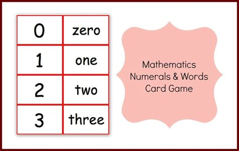 printable number and number word cards mathematics numbers and words card game 1 to 10 000