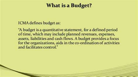 what is a one budget classification