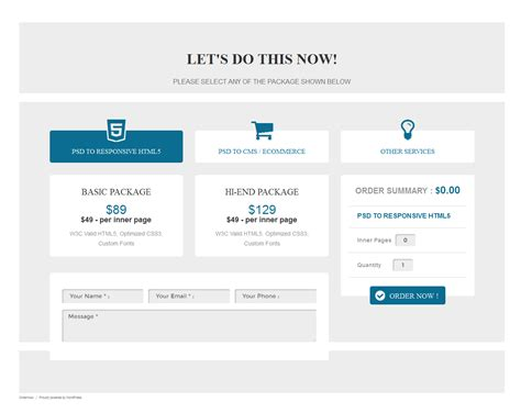 ordernow responsive order form wordpress plugin by