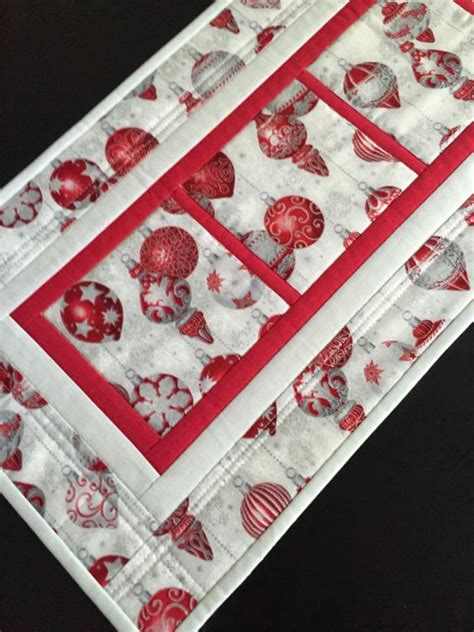 quilted christmas runner christmas ornaments holiday
