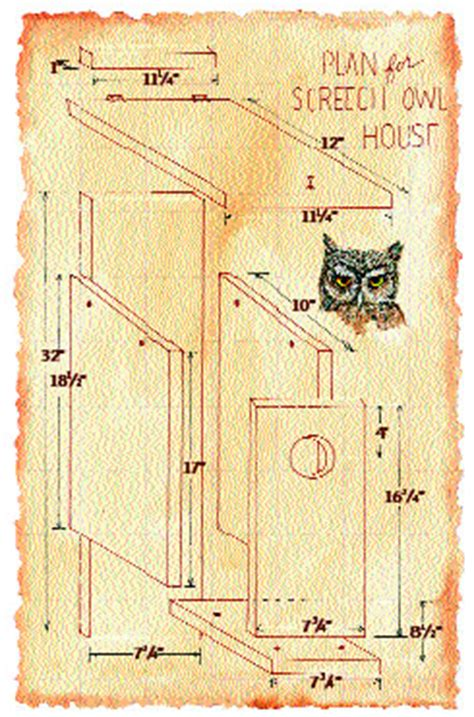 how to build a nest box for the western screech owl