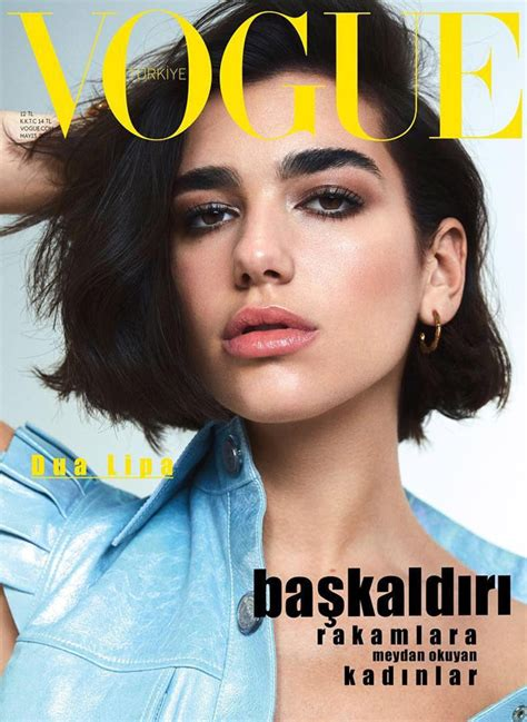 Dua Lipa Vogue | dua lipa stars on the cover of vogue turkey may 2018 issue