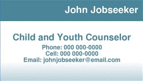 business cards templates for job seekers personal calling cards